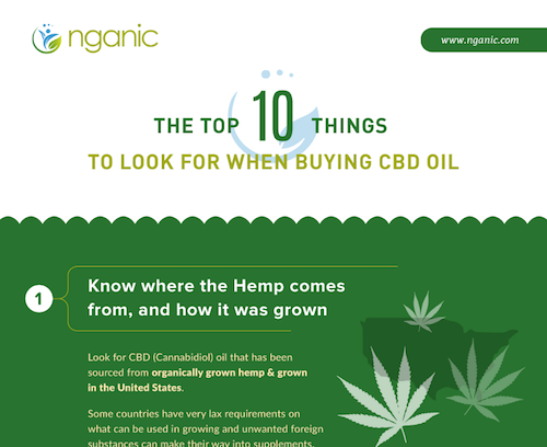top 10 things to look for when buying cbd oil infographic screenshot