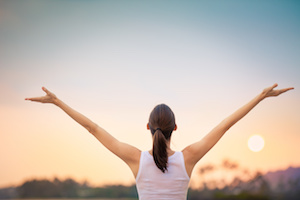 woman with hope using a natural anti inflammatory